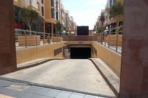 Parking spaces in Arrecife, Lanzarote.